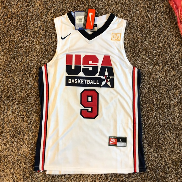 Michael Jordan Patch LOGO MAN Lebron Bryant Nike NBA Basketball USA T-shirt